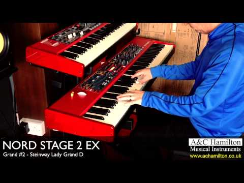 nord stage 2 ex grand pianos demo a c hamilton youtube. Black Bedroom Furniture Sets. Home Design Ideas