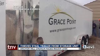 Thieves steal storage trailer belonging to church