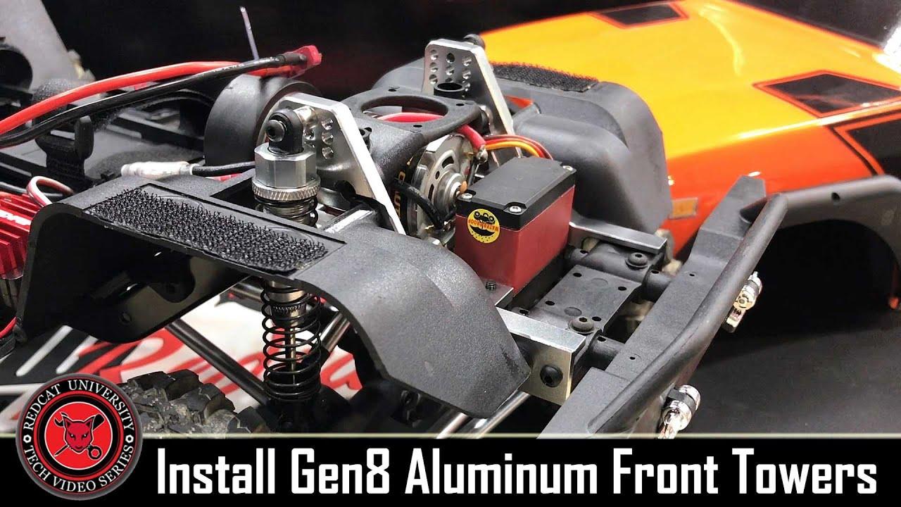 2 RER11409 Redcat Gen8 Aluminum Rear Shock Towers