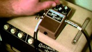 Boss FRV-1  '63 Reverb Pedal Demo on a '62 Blonde Bassman and a Fender Stratocaster-Surf Tones