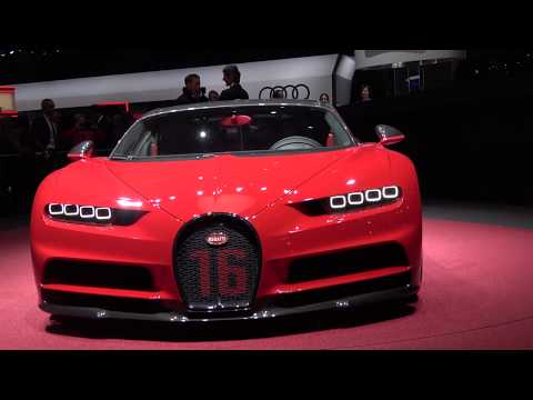 [4k] Bugatti Chiron Sport 360' in Ultra HD 4k in Geneva Salon 2018