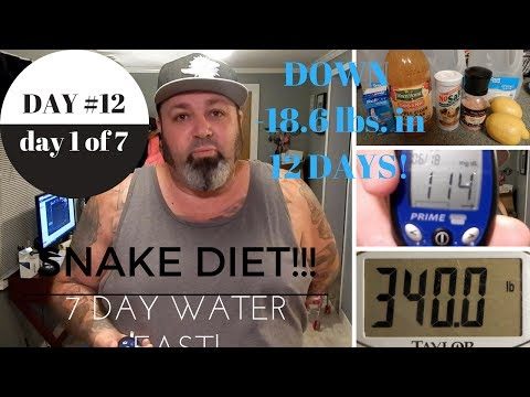 snake-diet-challenge---day-#12---day-1-of-7-day-water-fast!!!