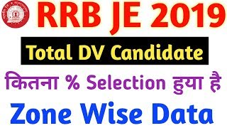 Rrb je zone wise dv selected candidate rrb je 2019 rrb je result rrb je zone wise cut off