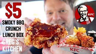 New KFC $5 Smoky BBQ Crunch Lunch Box Food Review - Greg's Kitchen