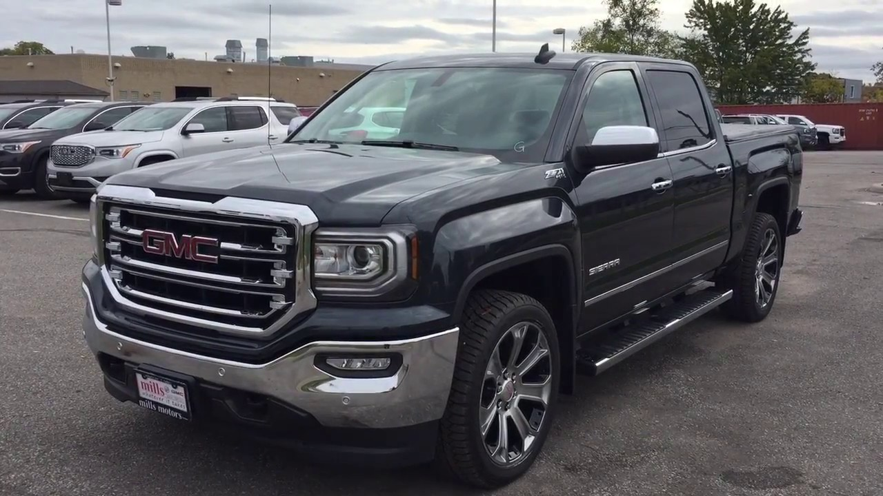 2018 GMC Sierra 1500 SLT 4WD Crew Cab 22 Inch Wheels Power ...