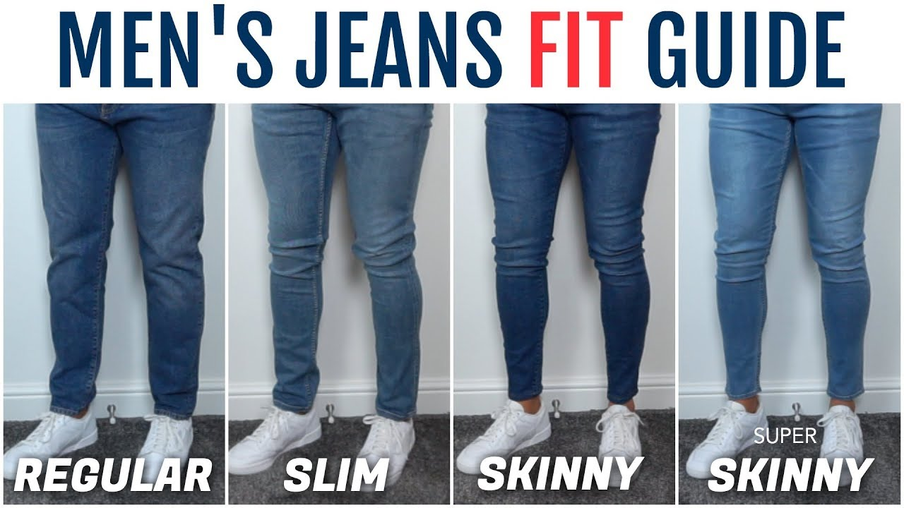Men's Jeans Fit Guide   The Best Fitting Jeans For Your Physique - YouTube