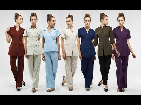 Uniforms for beauty salons wellness and spa centers youtube for Spa uniform canada