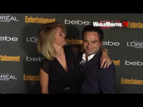 Johnny Galecki, Kelli Garner arrive at Entertainment Weekly Pre Emmy Party 2013
