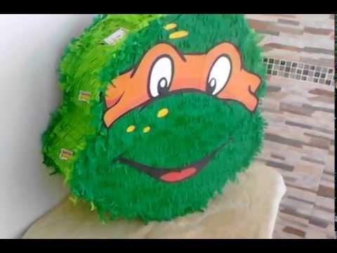 "PIÑATA TORTUGAS NINJA ""How to make a pinata ninja turtle"" - YouTube"