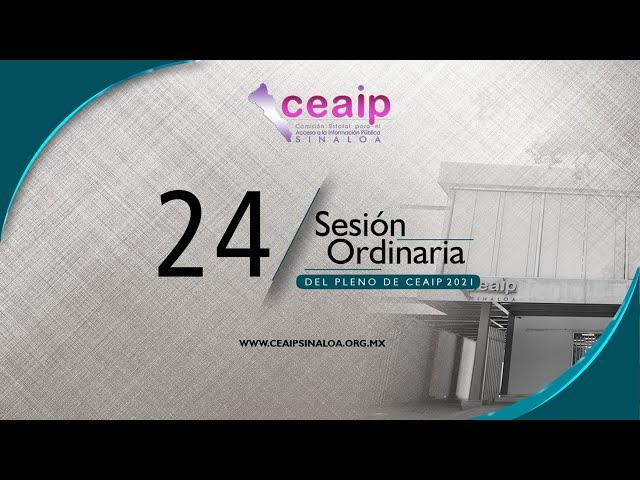 Sesión Ordinaria de Pleno No. 24/2021
