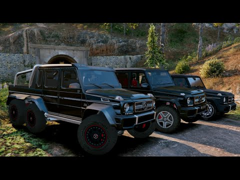 gta v mercedes g65 amg vs g65 amg 4x4 2 vs g65 6x6 gta 5 youtube. Black Bedroom Furniture Sets. Home Design Ideas