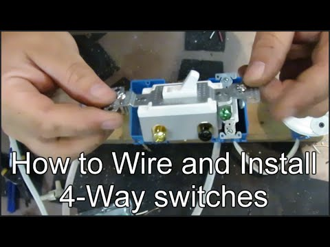 How to Wire and Install 4-way Switches - YouTube  Way Switches Wiring Diagram on rs-485 wiring diagram, fuel gauge wiring diagram, 2 switches wiring diagram, on/off switch wiring diagram,