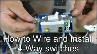 How To Wire And Install 4 Way Switches Youtube