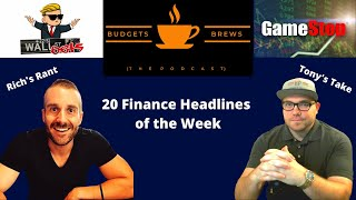 01/31/21 Morning Coffee Break | 20 Finance Headlines | Deep Dive on the GAMESTOP (GME) Short Squeeze
