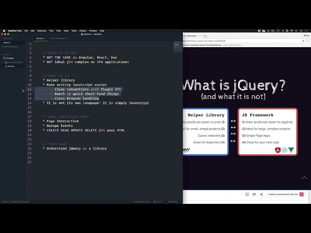 jQuery for Total Noobs Vol. 1: #3 What is jQuery?