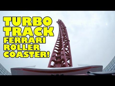 Turbo Track Roller Coaster Front Seat POV Ferrari World Abu Dhabi UAE 2017