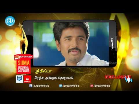 SIIMA 2014 || Tamil Best Debutant Actress || Sri Divya