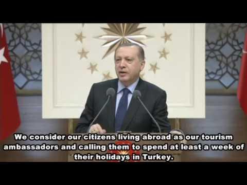 President Erdogan promotes Turkey's tourism attractions