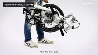 How to fold and unfold Iruka Japanese Performance Foldable Bike