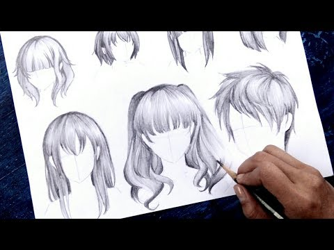"""how-to-draw-anime-""""hair""""-no-timelapse-[anime-drawing-tutorial-for-beginners]"""
