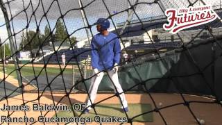 James Baldwin, OF, Rancho Cucamonga Quakes,Batting Practice Session