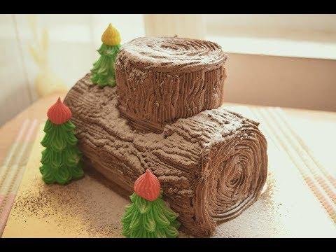 Bánh khúc cây cho mùa giáng sinh | yule log cake | Maxu