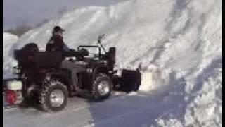 Souffleur a neige pour VTT