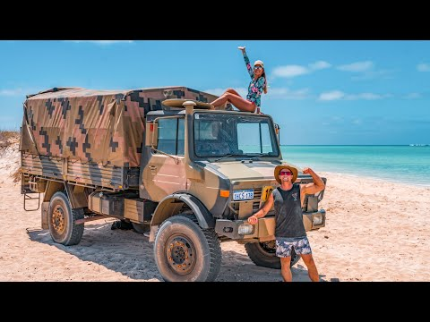 LIVING OUT OF OUR EX-ARMY UNIMOG - Kayak Crayfish Diving & Beach Camping on Ningaloo Reef | Ep 46 |