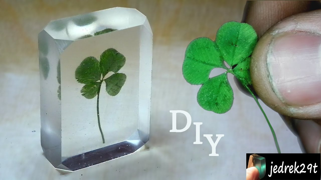 diy four leaf clover in resin youtube