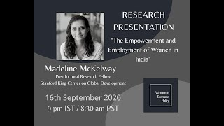 Research Presentation with Madeline McKelway