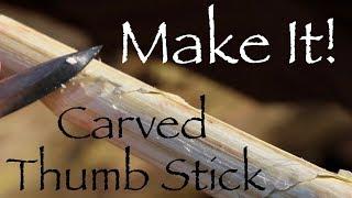 Carve a Twisted Hazel Thumb Stick. Woodland Whittling.