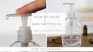 All-natural hand sanitizer gel is very simple to make and works effectively cleansing hands, without the harsh chemicals found in conventional sanitizer...