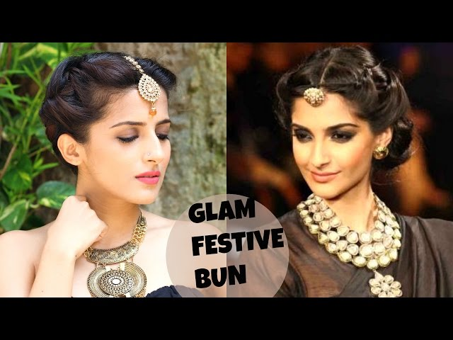 Navratri 2017 Hairstyle How To Get Sonam Kapoor Inspired Bun Updo