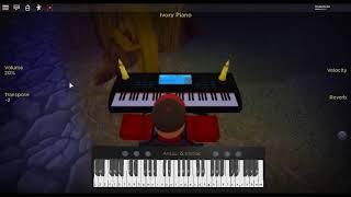 Nove da tarde-Heros por: pânico! no disco em um piano ROBLOX.