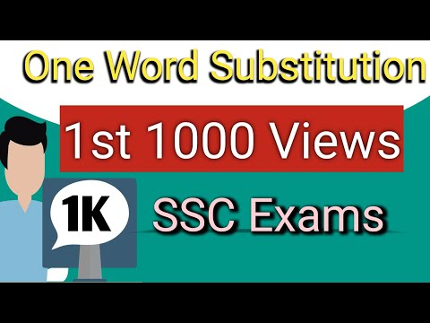Top 15 One Word Substitution Asked in Competitive Exam | English Grammar by Shree Diligence