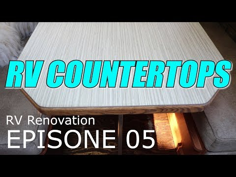 RV Countertop Remodel / Re-Laminate