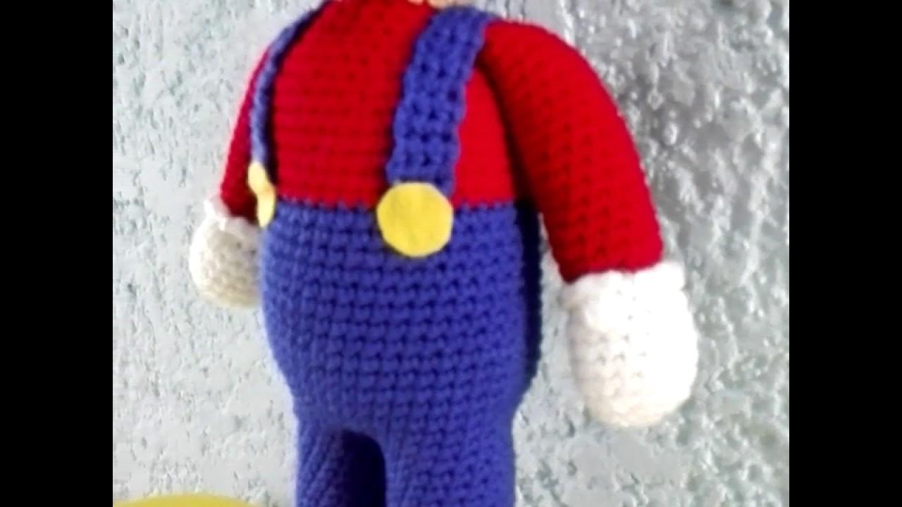 Super Mario (Cuerpo, piernas y brazos)    Crochet o ganchillo. - YouTube   720x1280