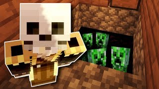I Built a Creeper Trap in my Friend's Base! - Minecraft Multiplayer Gameplay