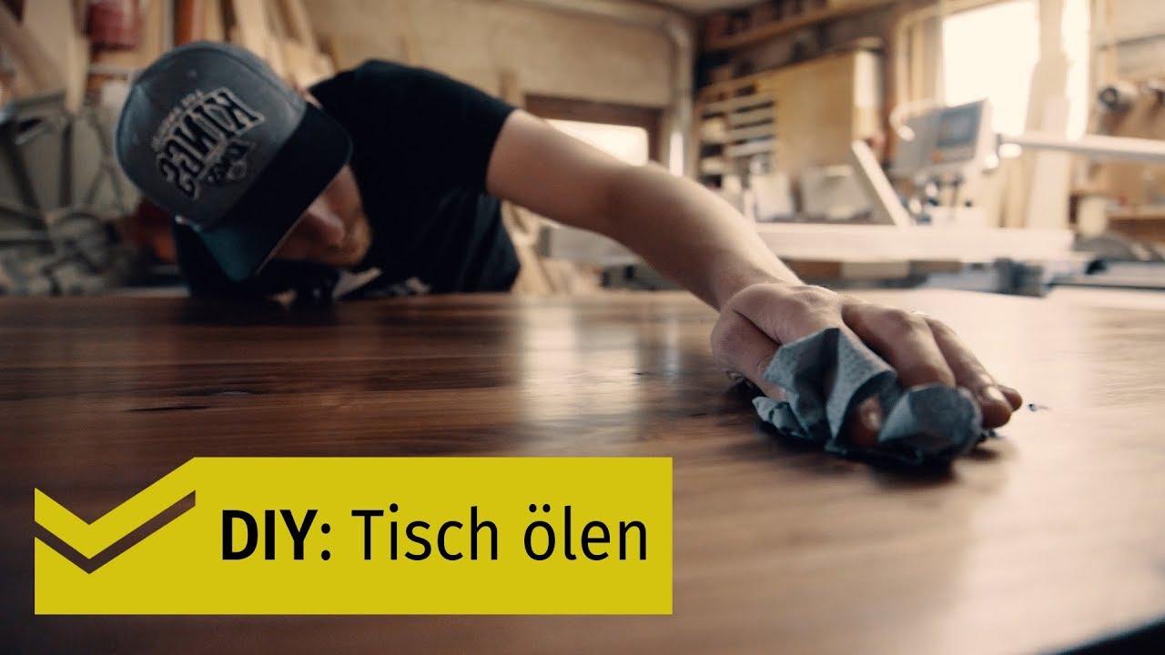 Massivholz/ Holz-Tischplatte ölen - so gehts [HOLZPILOTEN]