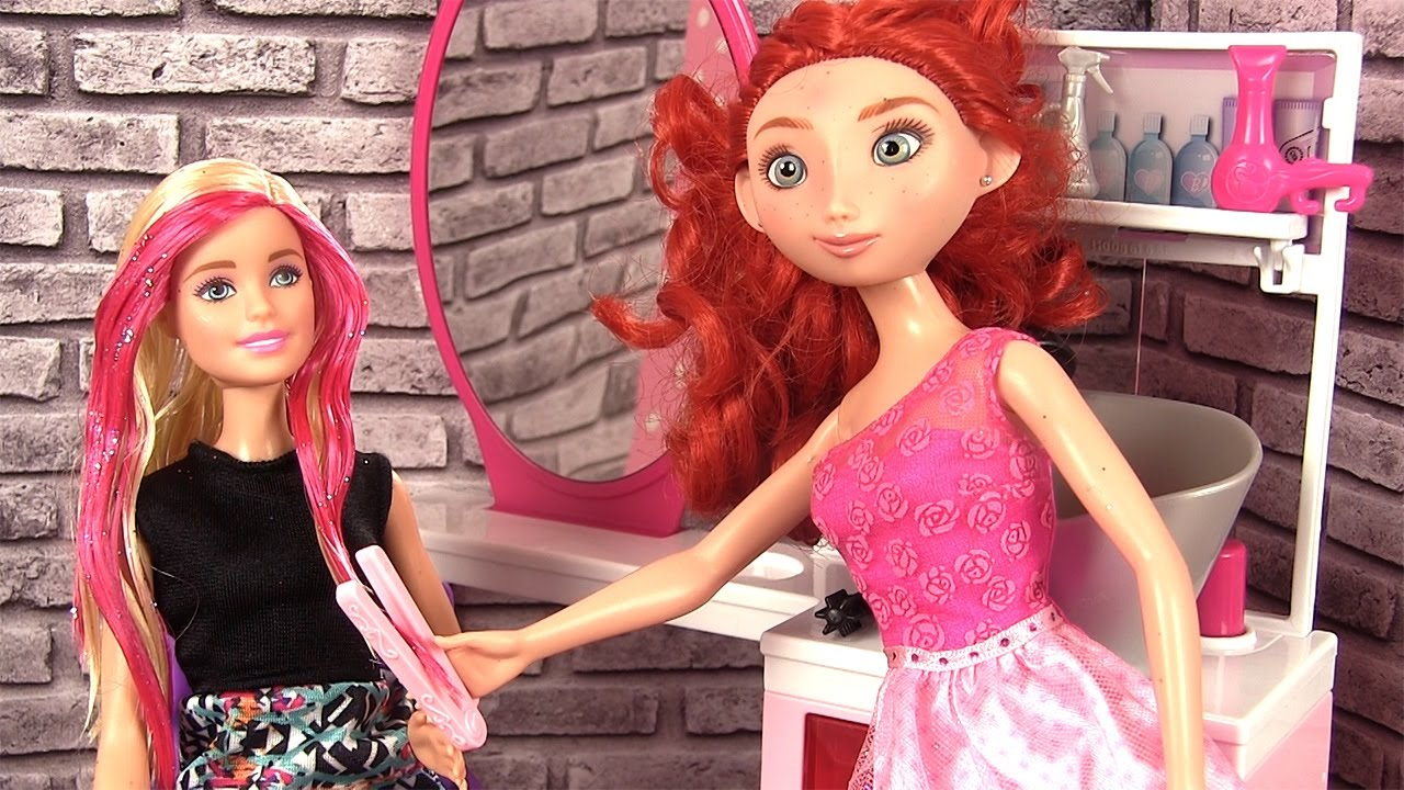 Barbie Salon de Coiffure Sparkle Style Histoires de Poupu00e9es Barbie - YouTube