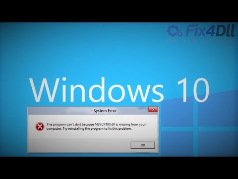 How to Fix Missing Dll Files Error For Games on Windows 10 [Works