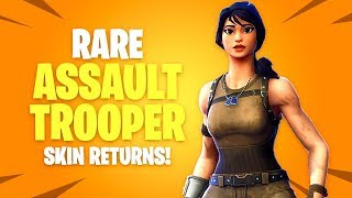 *RARE* ASSAULT TROOPER Skin Returns! Fortnite Battle Royale Daily Items Update