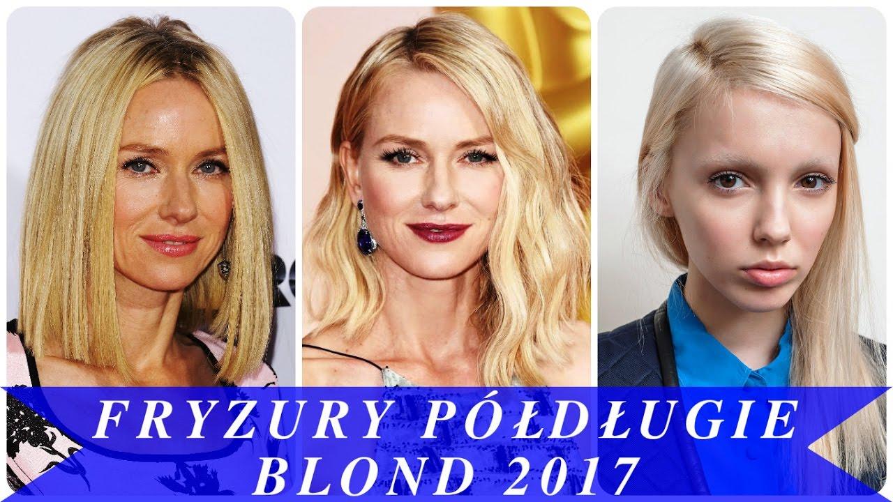 Fryzury Półdługie Blond 2017