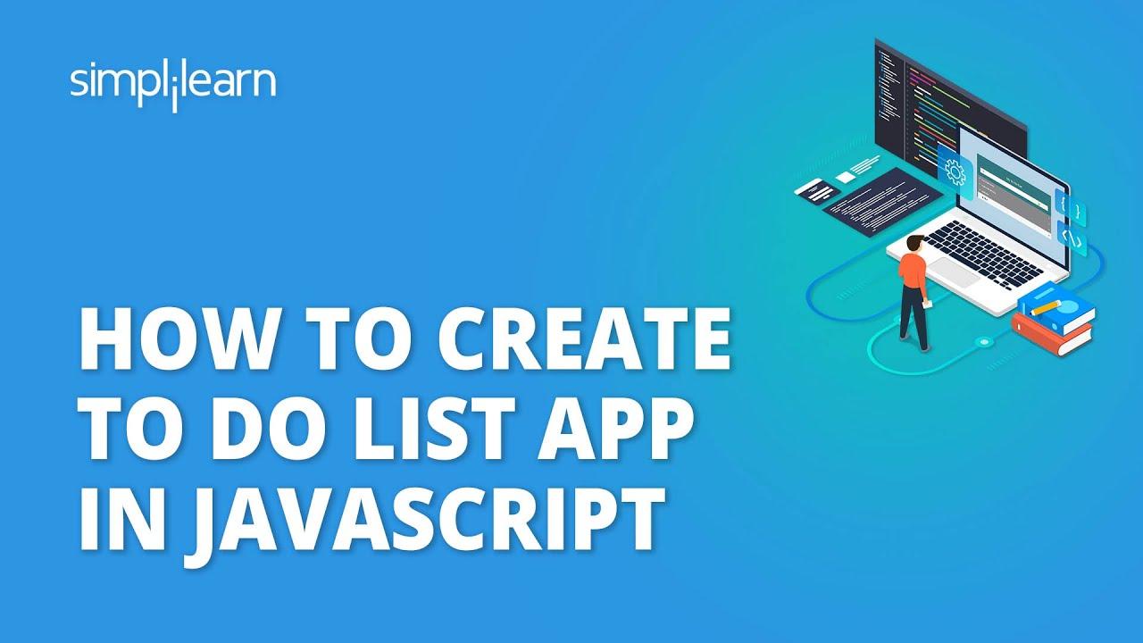 JavaScript Project   How To Create To Do List App In JavaScript   JavaScript Tutorial