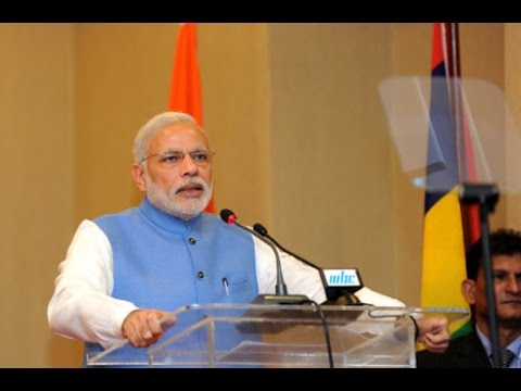 Narendra Modi at the Banquet hosted by Mauritius PM Anerood Jugnauth