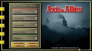 Axis & Allies gameplay (PC Game, 1998)