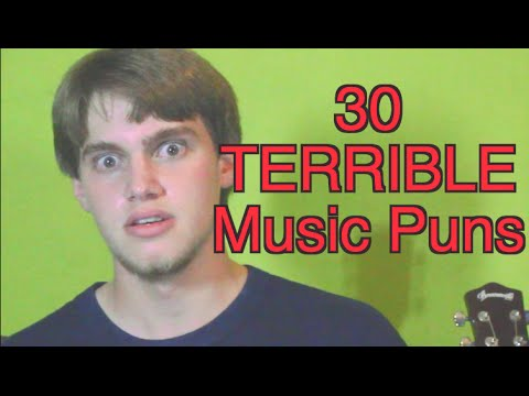 30 TERRIBLE Music Puns in Less Than 2 Minutes! -- ColorfulPockets
