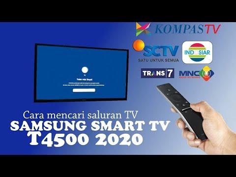 Cara Setting Saluran Tv Antena Analog Digital Di Samsung Smart Tv T4500 Youtube