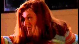 Alyson Hannigan (Willow), leg grab on Buffy