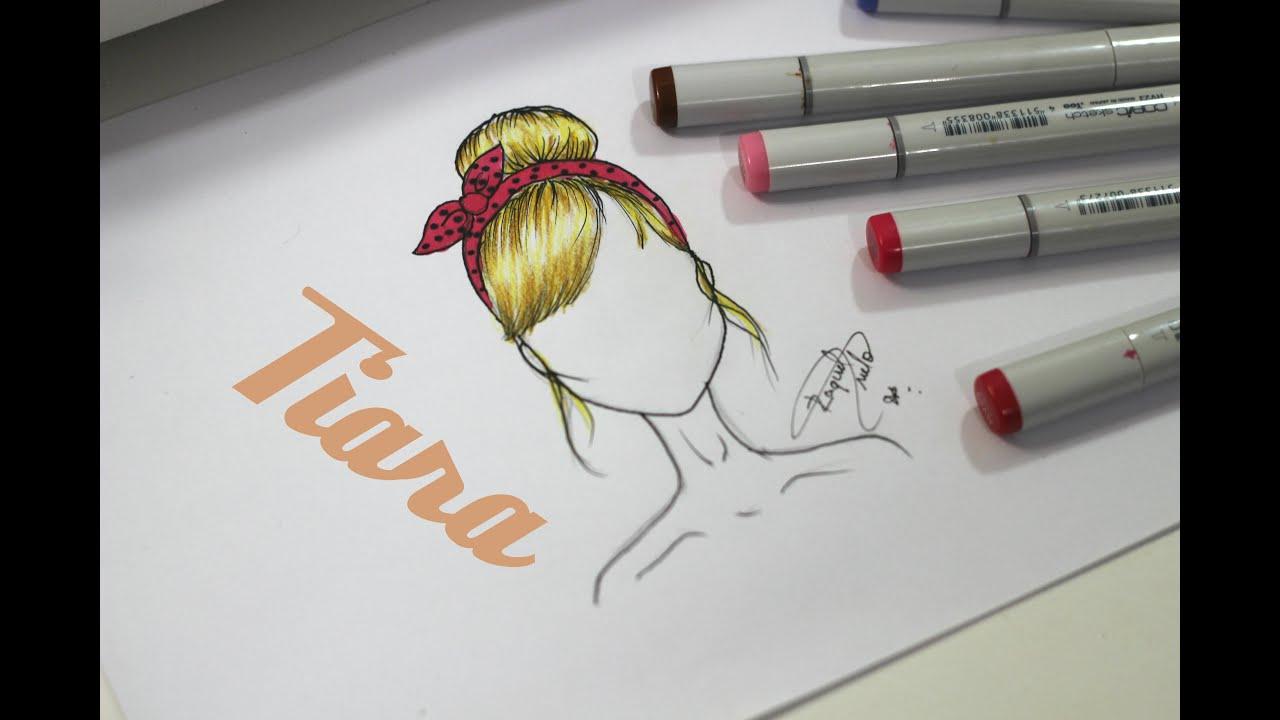 tutorial como desenhar coque com tiara youtube